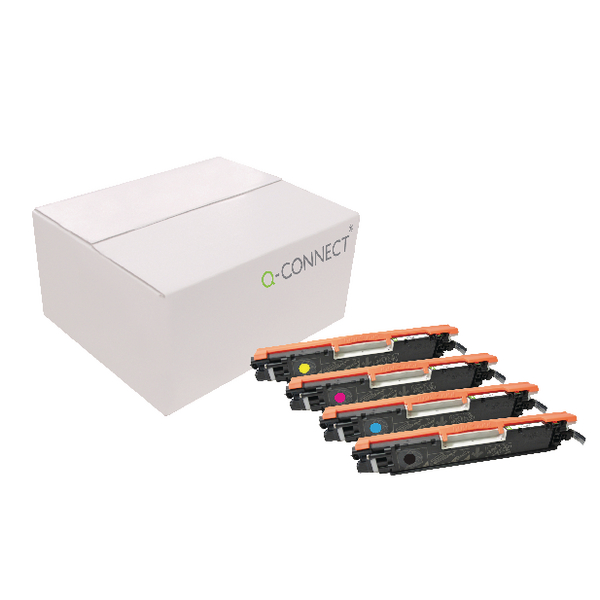 MultiColour Q-Connect Compatible Solution HP CP1025 LaserJet Toner Cartridge CMYK (4 Pack) CE310A/11A/12A/13A