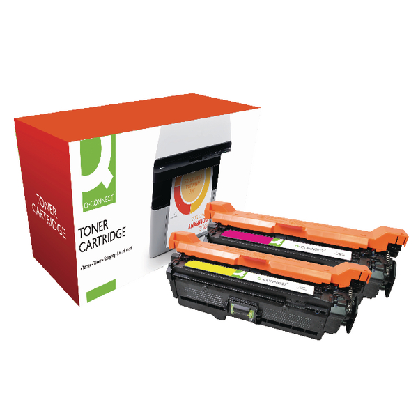 Q-Connect Compatible Solution HP CP3525 LaserJet Toner Cartridge CMYK CE250X/51A/52A/53A