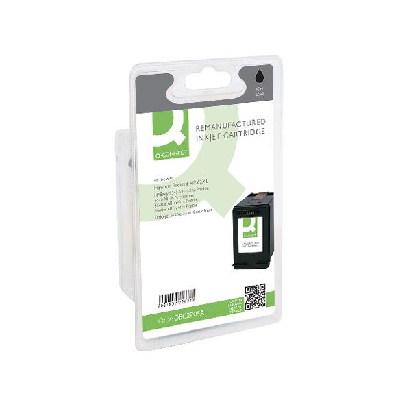 Black Q-Connect HP 62XL Black Inkjet Cartridge C2P05AE
