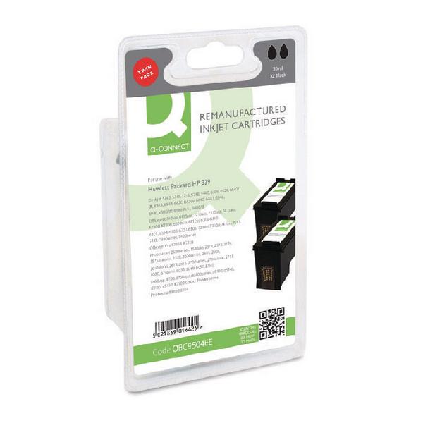 Black Q-Connect HP 339 Reman Black Inkjet Cartridge C9504EE