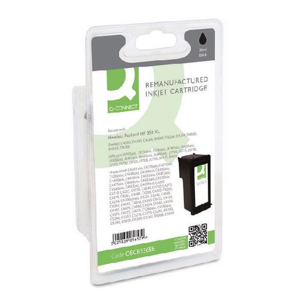 Black Q-Connect HP 350XL Reman Black High Yield Inkjet Cartridge CB336EE