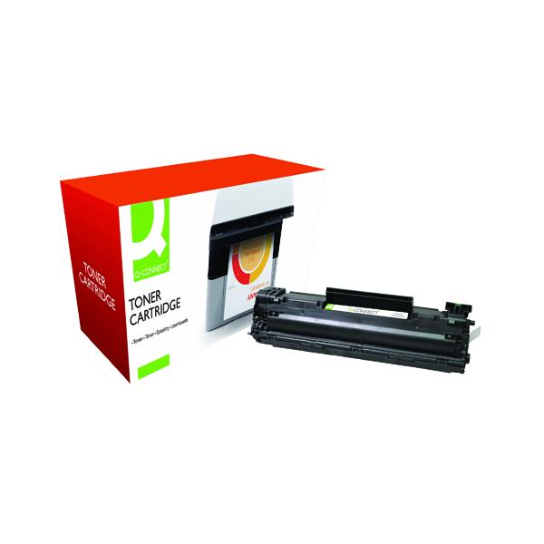 Black Q-Connect Compatible Solution HP 35A Black Laserjet Toner Cartridge CB435A