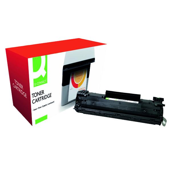 Black Q-Connect Compatible Solution HP 36A Black Laserjet Toner Cartridge CB436A