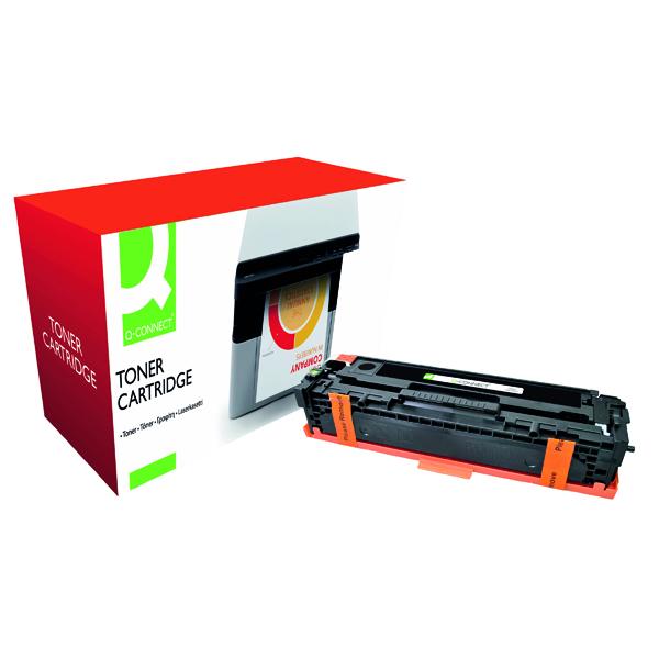 Black Q-Connect Compatible Solution HP 125A Black Laserjet Toner Cartridge CB540A