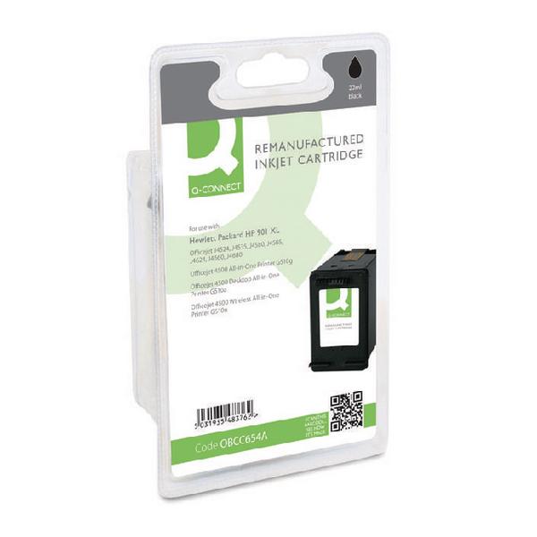 Black Q-Connect HP 901XL Reman Black High Yield Inkjet Cartridge CC654AE