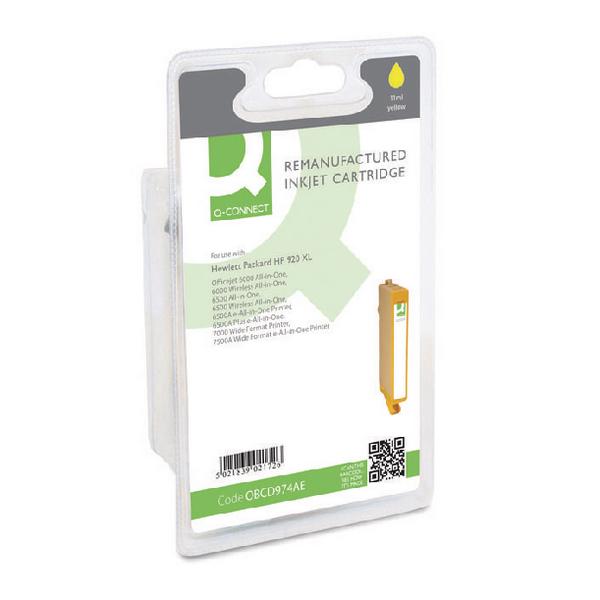 Q-Connect HP 920XL Reman Yellow High Yield Inkjet Cartridge CD974AEBGX
