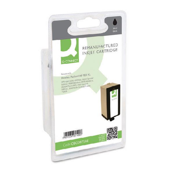 Black Q-Connect HP 920XL Reman Black High Yield Inkjet Cartridge CD975AE