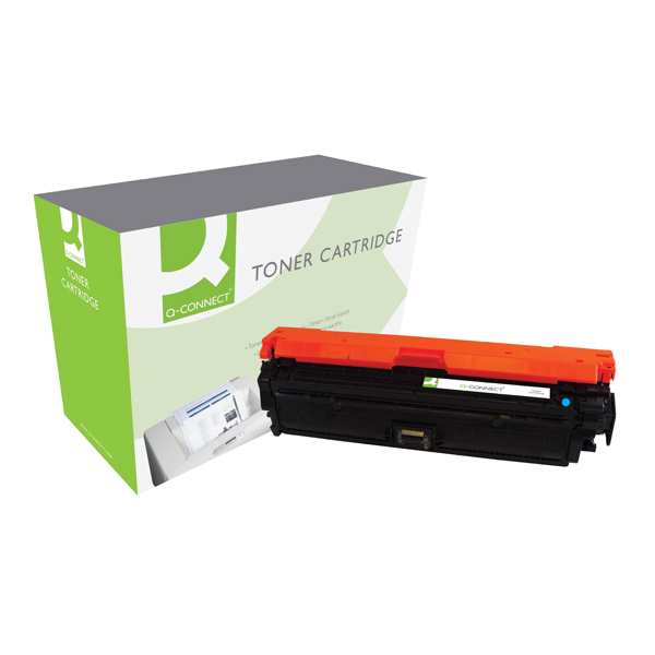 Q-Connect HP 650A Remanufactured Cyan LaserJet Toner Cartridge CE271A