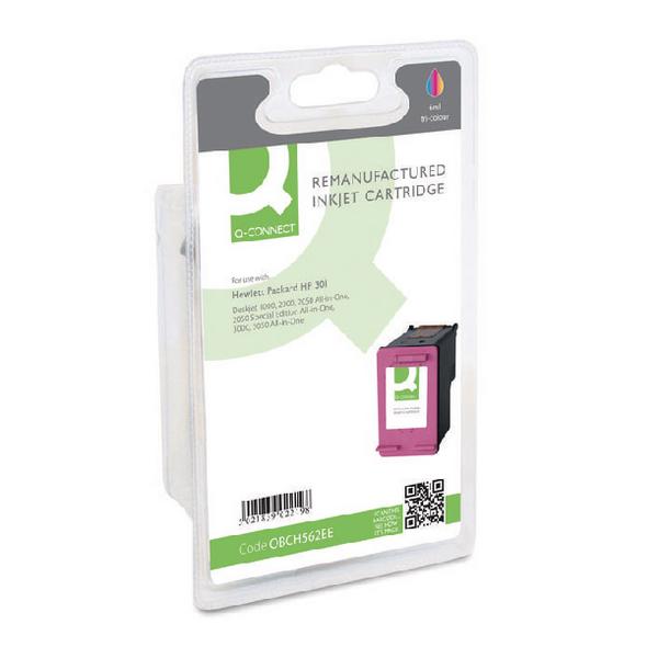 Q-Connect HP 301 Reman Colour Inkjet Cartridge CH562EE