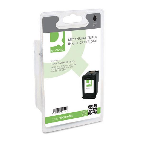 Q-Connect HP 301XL Reman Black High Yield Inkjet Cartridge CH563EE