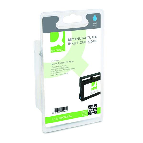 Q-Connect HP 933XL Reman Cyan High Yield Inkjet Cartridge CN054A