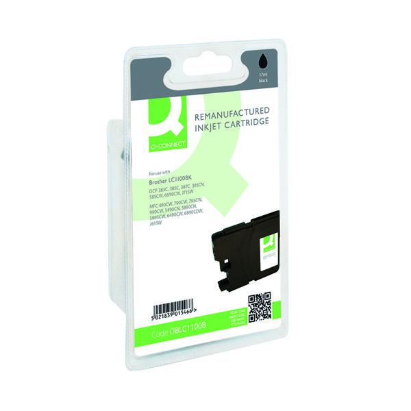 Q-Connect Brother Reman Black Inkjet Cartridge LC1100BK