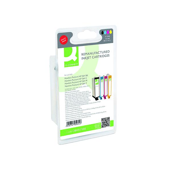 Inkjet Cartridges Q-Connect HP 364 Ink Cartridge Black and Tri-Colour Multipack N9J73AE