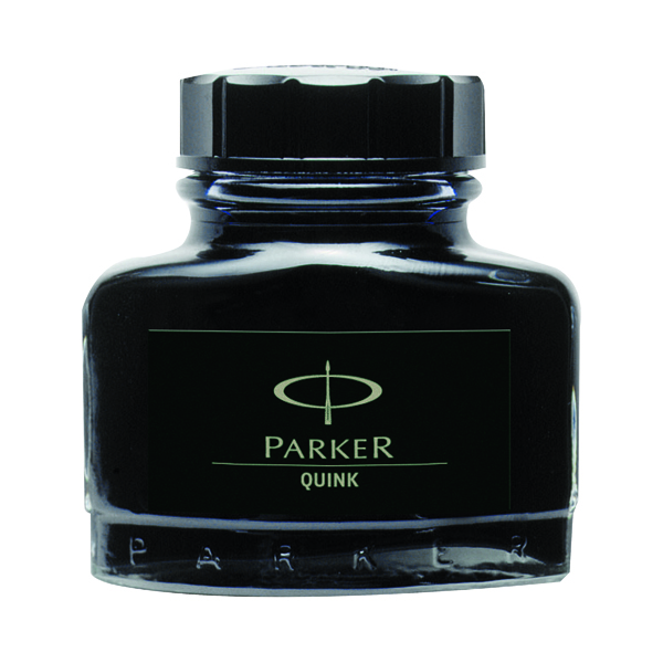 Bottle Parker Quink Black Permanent Ink Bottle 2oz S0037460