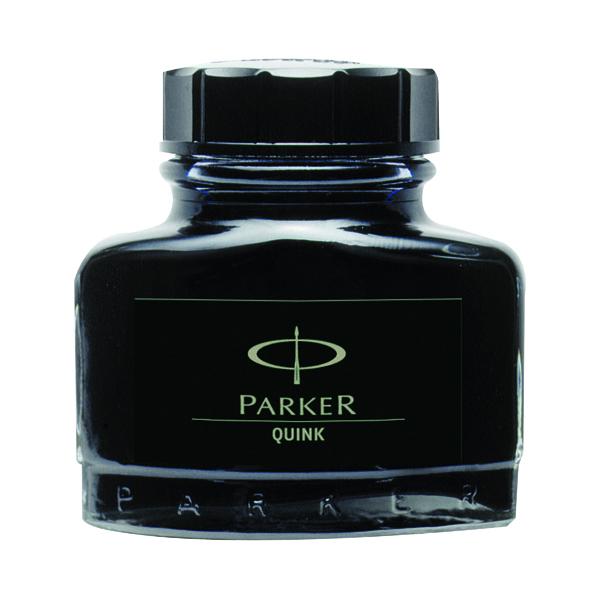 Parker Quink Black Permanent Ink Bottle 2oz S0037460