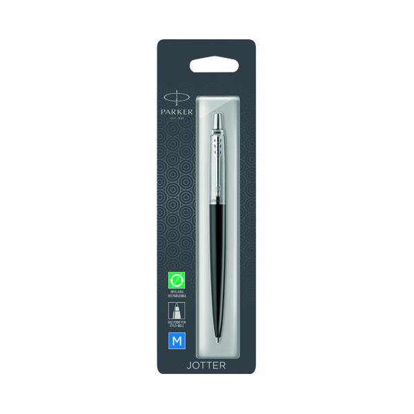 Parker Jotter Bond Street Black Chrome Trim Ballpoint Pen Hangsell 1953207