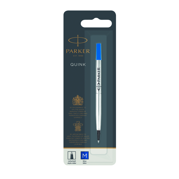 Parker Rollerball Refill Medium Blue (12 Pack) S0881250