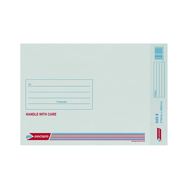 GoSecure Bubble Lined Envelope Size 8 270x360mm White (20 Pack) PB02134