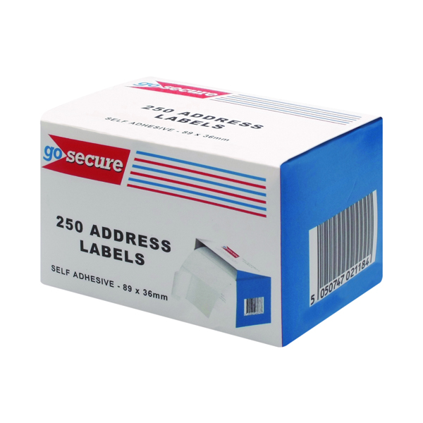 Unspecified GoSecure Self Adhesive Address Labels (1500 Pack) PB02278