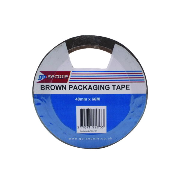 36/50mm GoSecure Packaging Tape 50mmx66m Brown (6 Pack) PB02296