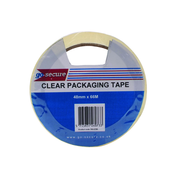 GoSecure Packaging Tape 50mmx66m Clear (6 Pack) PB02297
