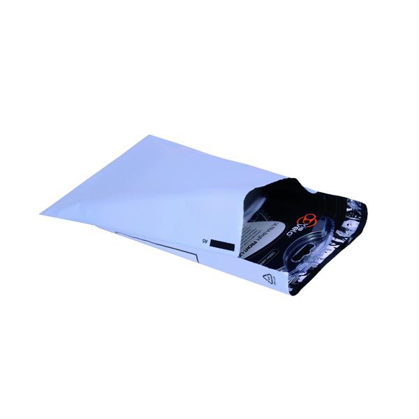 GoSecure Envelope Lightweight Polythene 230x162mm Opaque (100 Pack) PB11122