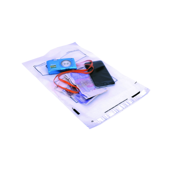GoSecure Envelope Extra Strong Polythene 240x320mm Clear (100 Pack) PB24242