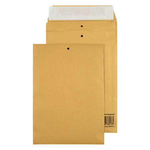 Padded Bags & Envelopes GoSecure Manilla C5 Gusset Pocket Envelope 140gsm (100 Pack) REPDC5