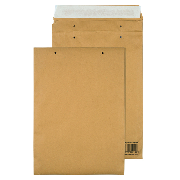 Padded Bags & Envelopes GoSecure Manilla C4 Gusset Pocket Envelope 140gsm (100 Pack) REPDC4