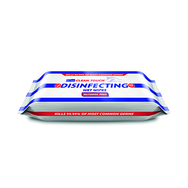 Cloths / Dusters / Scourers / Sponges Ultraclene Touch Disinfect 48 Wipes (18 Pack) HOULT001