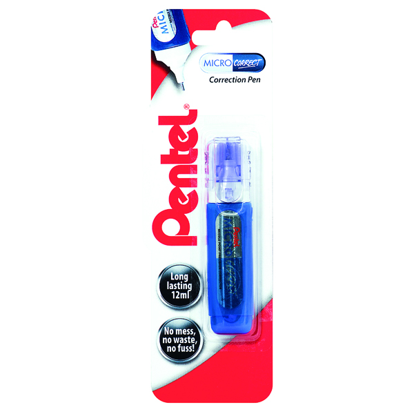 Correction Pens Pentel Micro Correct Blister Card (12 Pack) XZL31-W