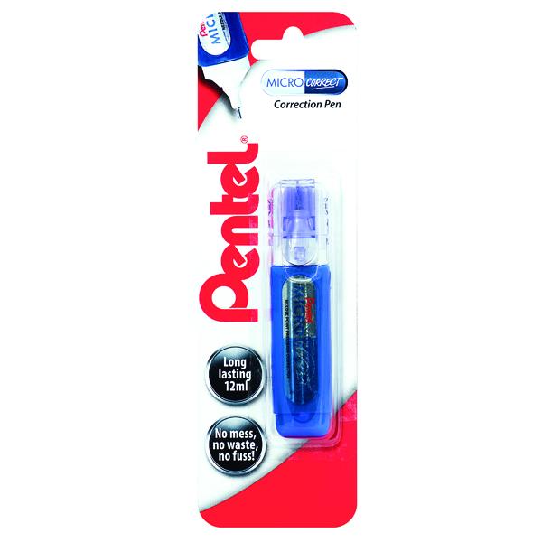 Pentel Micro Correct Blister Card (12 Pack) XZL31-W