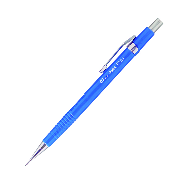 0.7mm Pentel P200 Automatic Pencil 0.7mm Blue Barrel (12 Pack) P207