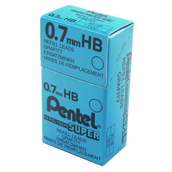 0.7mm Pentel 0.7mm HB Mechanical Pencil Lead (144 Pack) 50-HB