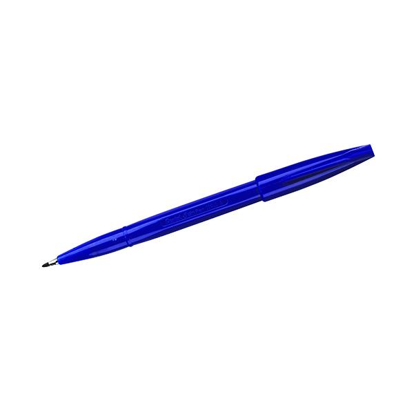 Blue Pentel Fibre Tip Blue Sign Pen (12 Pack) S520-C
