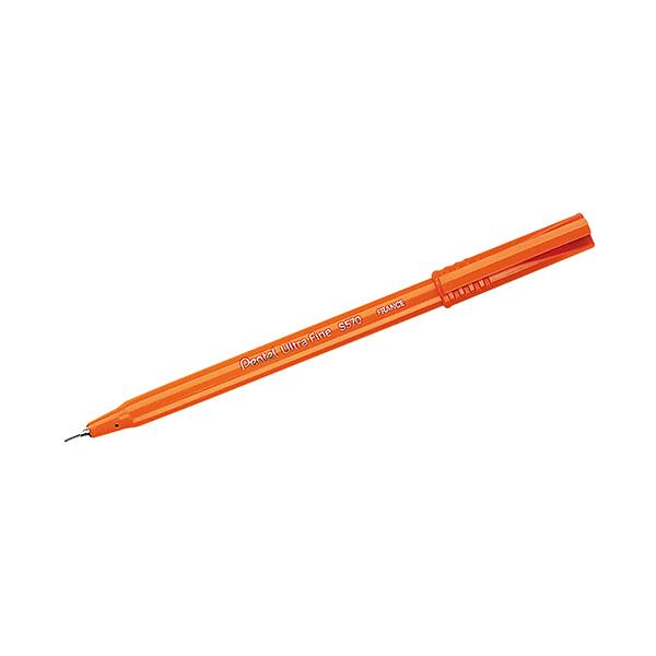 Black Pentel Black Ultra Fine Pen (12 Pack) S570-A