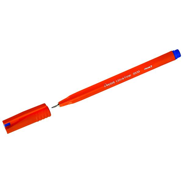 Blue Pentel Blue Ultra Fineliner Pen (12 Pack) S570-C