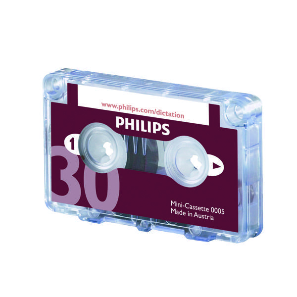 Tapes Philips Dictation Cassette 30 Minutes (10 Pack) LFH0005/30