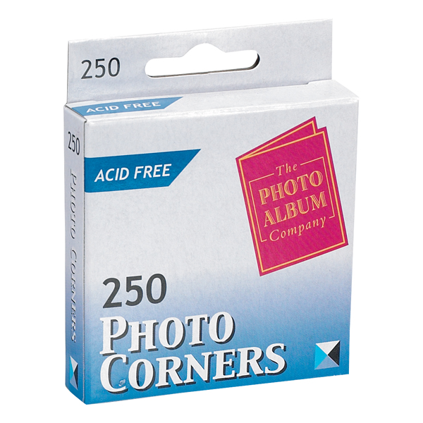 Photo Mounting TPAC Photo Corners White (250 Pack) PC250