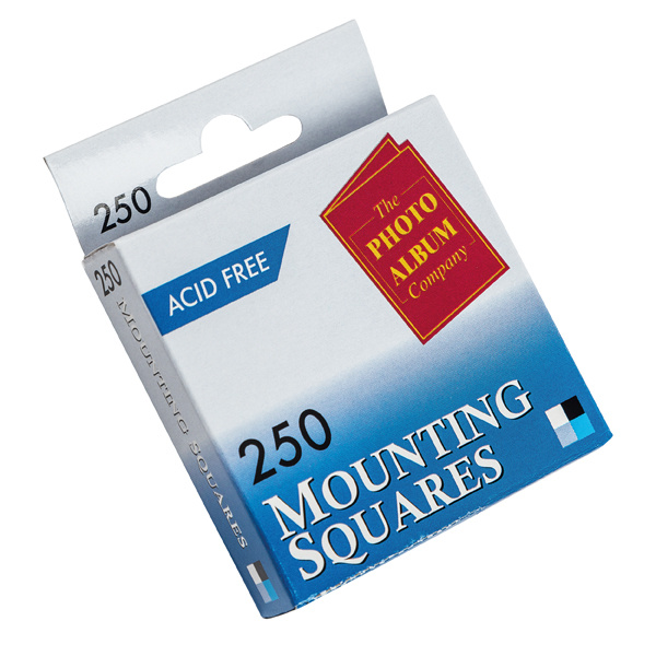 Photo Mounting TPAC Photo Mounting Squares White (250 Pack) MS250