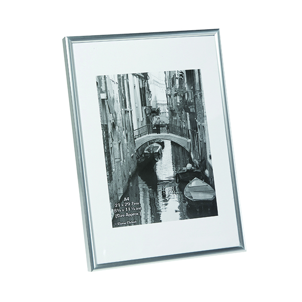 Certificate / Photo Frames TPAC Photo Backloading Certificate Frame A4 Silver A4MARSIL-NG