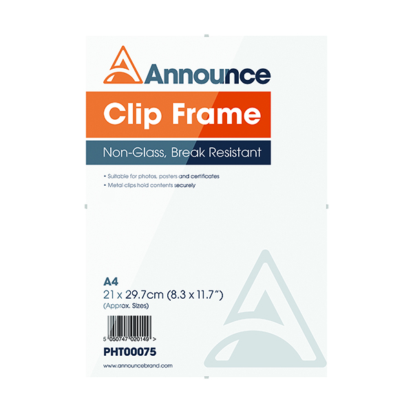 Certificate / Photo Frames Announce Metal Clip Frame A4 PHT00075