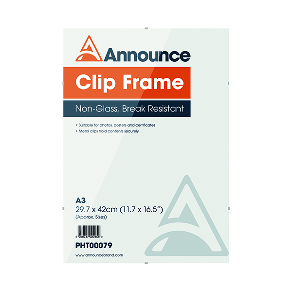 Certificate / Photo Frames Announce Metal Clip Frame A3 PHT00079