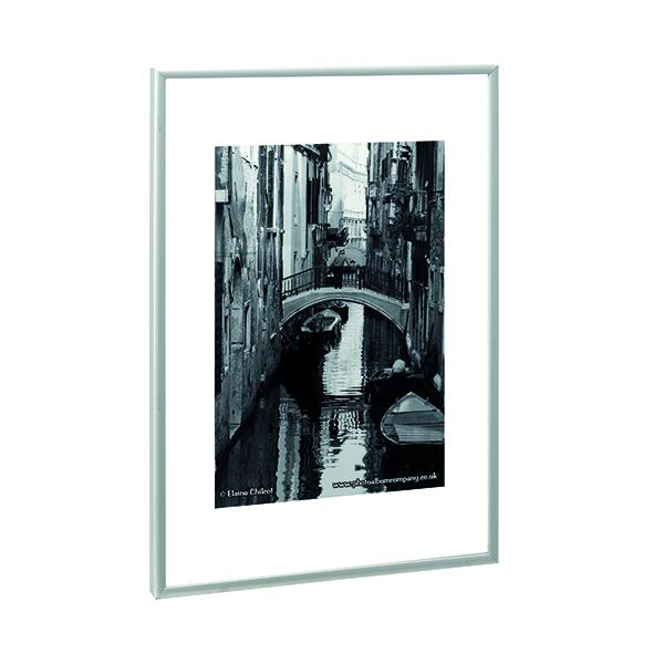 Certificate / Photo Frames TPAC Photo Aluminium Certificate Frame A4 Silver PAAFA4B