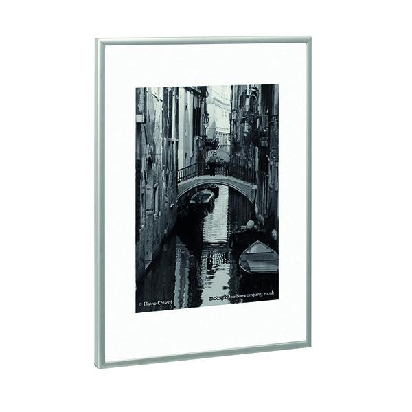 Certificate / Photo Frames TPAC Photo Aluminium Certificate Frame A2 Silver PAAFA2B
