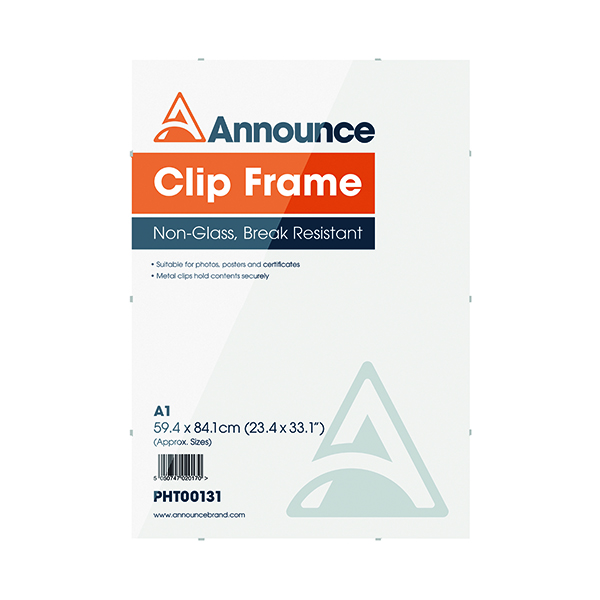 Certificate / Photo Frames Announce Metal Clip Frame A1 PHT00131