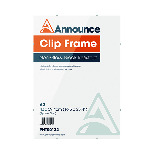 Certificate / Photo Frames Announce Metal Clip Frame A2 PHT00132