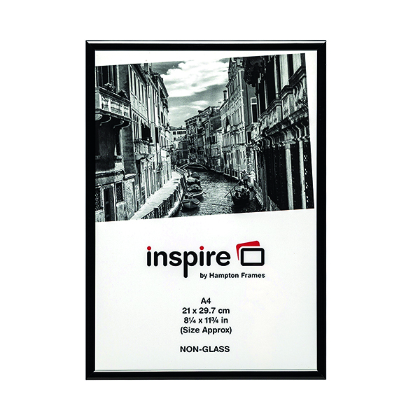 Certificate / Photo Frames TPAC Photo Aluminium Certificate Frame A4 Black PAAFA4Black