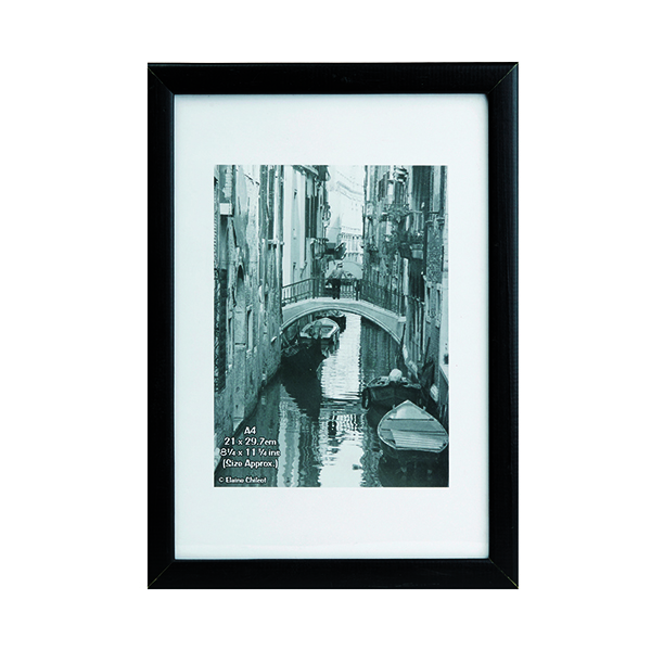 Certificate / Photo Frames TPAC Photo Black Wood Non-Glass Frame A4 PAWFA4B-BLK