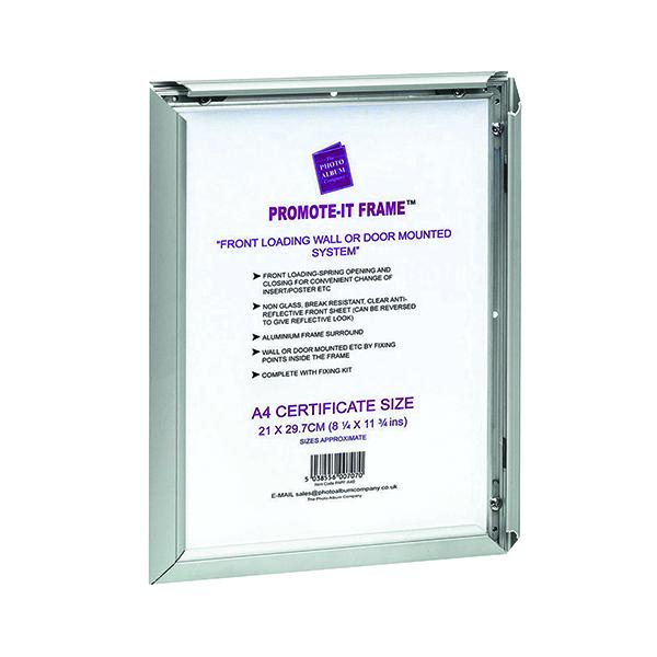 Certificate / Photo Frames TPAC Photo Promote It Frame A3 Aluminiun PAPFA3B